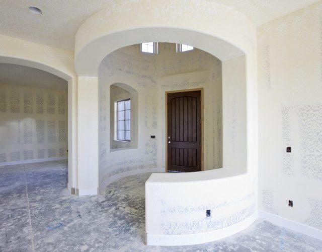 Detail of Drywall Construction  Interior Foyer